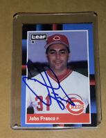 John Franco #79 Autographed 1988 Leaf Card *Cincinnati Reds* *Near Mint*