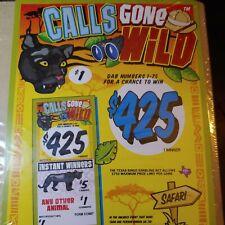 Pull Tabs, casino, Calls gone wild Profit $160/600 Tickets/ $1.00