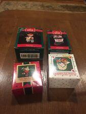 LOT OF 4 MIB Hallmark Ornaments 1986-1991