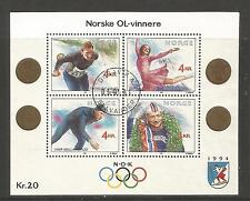 Norway 1990 Winter Olympics ss--Attractive Sports Topical (984) fine used