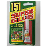 3GM 151 FAST ACTING STRONG SUPER GLUE / ADHESIVE FOR RUBBER METAL WOOD  166