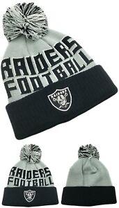 Oakland Raiders Youth Kids New NFL Proline Knit Beanie Gray Black Era Hat Cap