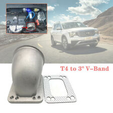"""90 Degree Elbow Adapter Flange 3"""" Vband T4 Turbo Cast Stainless Steel Durable"""