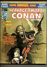 Savage Sword Conan The Barbarian; Neal Adams; Origin Black Mark by Gil Kane 4.0