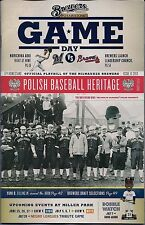 THE KOSCIUSKO REDS ON COVER MILWAUKEE BREWERS 2013 OFFICIAL GAMEDAY PROGRAM #13