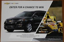 2013 Ryan Hunter-Reay Chevy Traverse Indy 500 Indy Car postcard