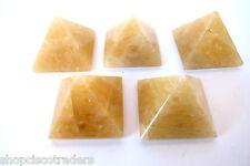 Golden Quartz Pyramid QTY1 35-40mm Healing Crystal Energy MASTER HEALER