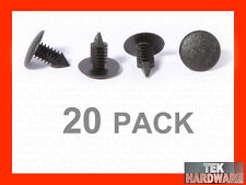 Black Fir Tree Plastic Panel Clips. To fit 6mm hole. 20 Pack