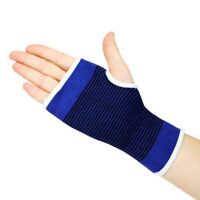 2 x WRIST GLOVE PALM HAND SUPPORT ELASTIC BRACE SPORTS SUPPORTS SLEEVE GYM BLUE
