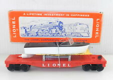 Lionel O #6501 JET MOTOR BOAT TRANSPORT CAR w/ Box ~ All Original Clean  T64