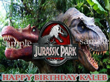DINOSAURS Personalized Edible CAKE Topper Icing Image Jurassic Park