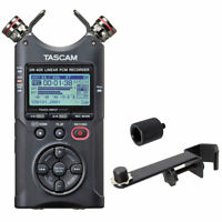 Tascam DR-40X Stereo Audio-Recorder + keepdrum Mikrofon-Halteschiene + Adapter