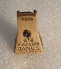 "VINTAGE A.W. FABER, ""JANUS"" No 4046, BRASS PENCIL SHARPENER, MADE IN GERMANY."