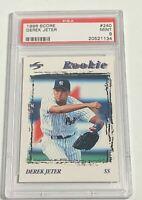1996 SCORE DEREK JETER NEW YORK YANKEES ROOKIE CARD RC #240 PSA MINT 9 (DR)