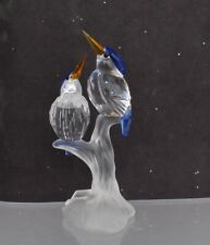 Signed Swarovski Crystal Malachite Kingfishers Figurine - 623323 2012 Birds GL