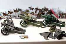 Britains Toy Soldier 3 Heavy Howitzer Tractor Wheels Early Version Anti Aircraft