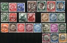 GERMANY Deutsche Reich SC# 398-414 432-435 442-445 Stamps Postage 1933-34 USED