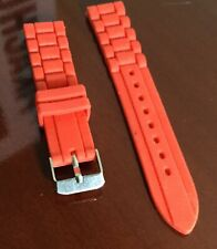 16mm Women's Red Rubber Silicone Watch Band Strap Fossil Replacement