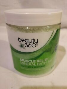 beauty 360 muscle relief mineral bath salts 25 oz.