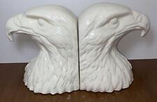 Scarce Lladro Hispania Daisa White Eagle Head Bookends