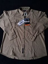 NWT  5.11 Tactical Series Uniform Womens Shirt Size  2XL Long Beige