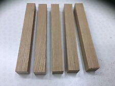 5 Slow Grown Close Grain Brown Ash Woodturning pen  Blanks