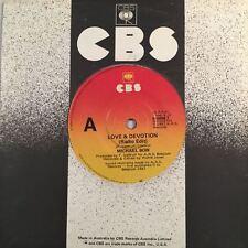 """MICHAEL BOW - Love & Devotion 45rpm 7"""" Vinyl Single Record (Excellent)"""