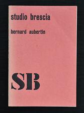 Studio Brescia , ZERO # BERNARD AUBERTIN # 1974, nm