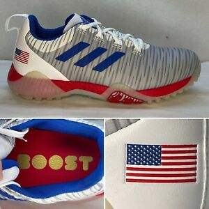 Adidas CodeChaos Nations Pack USA Golf Shoes Red White Blue FU7491 Men Size 8.5