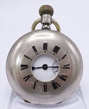 Antiguedad savonette 800 plata esmaltes salto tapa reloj de bolsillo reloj d411