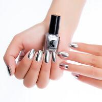 6ml Nagellack Silber Metallic Spiegel Effekt Lack Maniküre Nägel Glänzende Tools