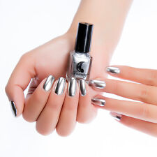 6ml Metallic Mirror Nail Polish Silver Magic Effect Chrome Varnish  DIY