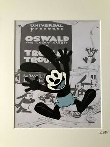 Disney - Oswald The Lucky Rabbit - Vintage - Hand Drawn & Hand Painted Cel