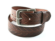 Genuine Leather Belt Snap Button Harness Strength Metal Buckle Men's Style New