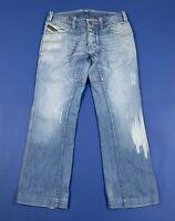 Diesel woriks jeans uomo usato gamba dritta W32 tg 46 blu denim boyfriend T5276