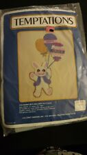Temptations Easter Bunny Rabbit Plastic Canvas Kit Wall Hanging Vintage NIP New