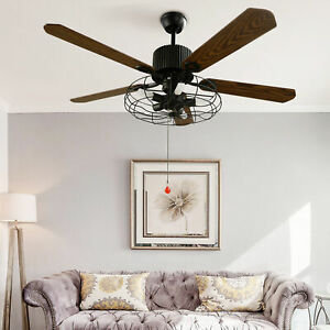 Modern Ceiling Fan Lamp LED Chandelier Light Dimmable Remote Control