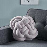 Amethyst Modern Soft Velvet Double Carrick Knot Pillow