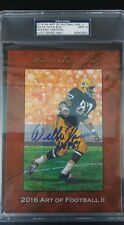 2016 HA Art of Football Goal Line WILLIE DAVIS GREEN BAY PACKERS HOF PSA 9 AUTO