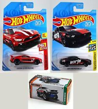 2Hot Wheels Ford Mustang Carded & 1 Matchbox Ford Mustang Pwr Grab