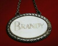 Vintage DECANTER LABEL  BRANDY with stylish design GREAT Gift UK