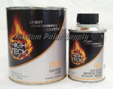 High Teck Flat Finish Clear Coat Quart Kit 77165, 7102