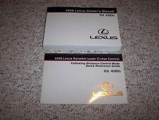 2006 Lexus RX400h RX 400h Hybrid Owners Owner's User Manual Set 3.3L V6