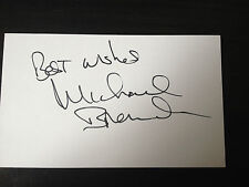 MICHAEL BRANDON - DEMPSEY & MAKEPEACE ACTOR - SIGNED WHITE CARD