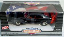 ERTL 1/18 1969 Dodge Charger Daytona BLACK Car #7389 NEW American Muscle '69