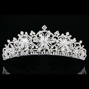 Bridal Snowflake Rhinestone Crystal Prom Wedding Crown Tiara 7914