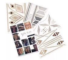 🌟(4 Sheets) Dakota Flash Tattoos, Jewelry Inspired Premium Metallic Temporary