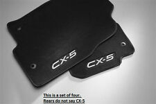 Mazda CX-5 Carpet Floor Mats in Charcoal Black (set of 4) 2013 2014 2015 2016