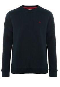 Merc Clothing Norbury Tartan Piping Sweatshirt, Navy ,Mod, 60s, Retro, SALE