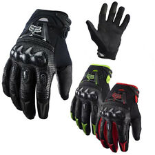 UK Fox Bomber Leather Motorcycle MTB Gloves Outdoor Enduro Cycling Riding Gloves